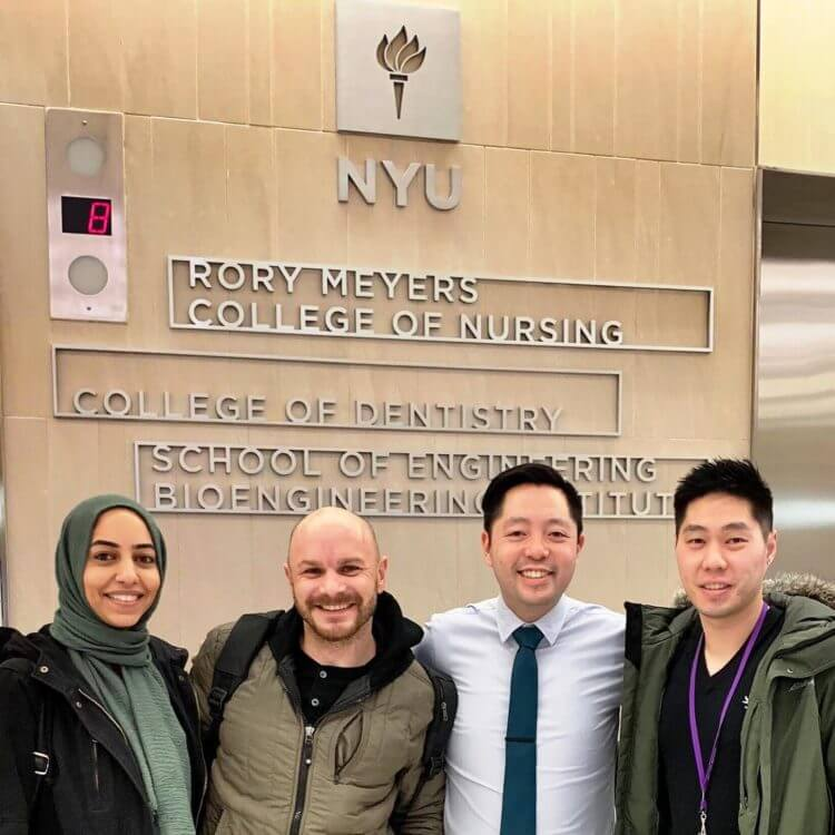 Dr. Nguyen at a dental implant overdentures seminar at NYU for continuing education